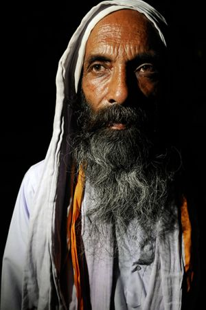 Khaiber Fakir - a Baul from West Bengal.  Alchemy is another metaphor employed by the Bauls to convey the idea that the way to God is through the refinement of oneself, of one's own heart, to transform it from something impure into pure gold.