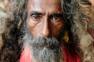 A Sufi ascetic, called a fakir, in Dhaka, Bangladesh.
