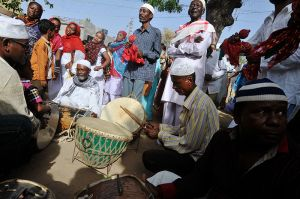 Dhammal: a ritual that involves drumming, dancing and singing Swahili devotional songs praising the saint Bhava Gor.