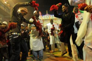 Dancing at a Sidi Dhammal.