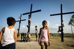 In Asia, a continent dominated by Muslims, Hindus and Buddhists, the Philippines is one of only two Christian majority countries.  More than ninety percent of Filippinos are Christian.