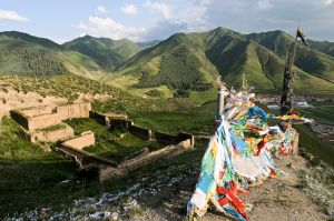 Ruins of a Tibetan temple destroyed during the Cultrual Revolution.