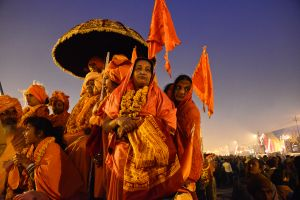 Female renunciants at the Kumbh Mela
