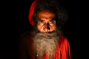 A Tantric sadhu or holy man.