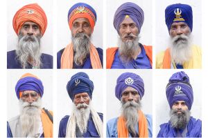 Sikh Nihangs or soldier saints are members of a spiritual military order who's historical mission was to defend the Sikh religion by force of arms. Though they no longer called upon to engage in battles, the Nihangs maintain their military traditions.