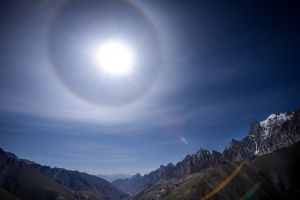 The eye of heaven over the Himalaya.