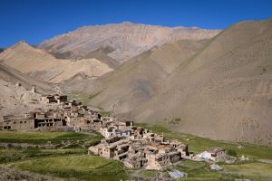 A village in a remote valley of Zanskar.