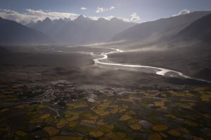 Dusk in the Stod Valley of Zanskar.