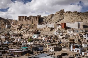 The old city of Leh, capital of the trans-Himalayan region of Ladakh.