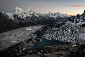 Dusk in the Himalaya.