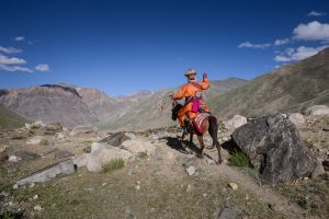 A shaman traveling in Zanskar.