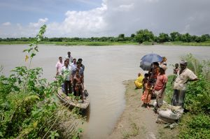River transport in rural Bangladesh.