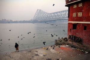 Dusk on the Hooghly River in Calcutta.