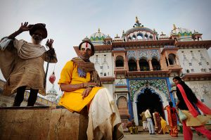 Sadhus at the Janaki Mandir