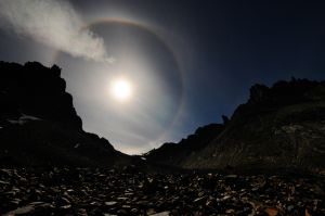The Sun's Halo Pierced by a Cloud