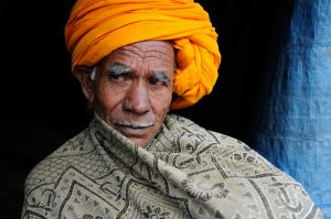 A Rajasthani pilgrim -- with an uncharacteristically thin mustache.