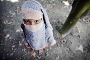 Girl Playing Burka