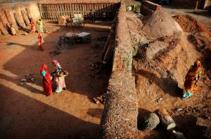 Women Working at a Brick Kiln
